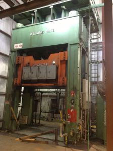 1,500 Ton Williams and White Gib Guided Hydraulic Press 1