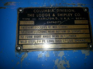 Lodge and Shipley Press Brake 2