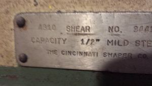 Cincinnati Mechanical Shear 2