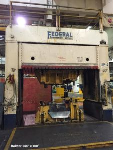 150 Ton Federal Hydraulic Spotting Press For Sale (Small Bolster) 2