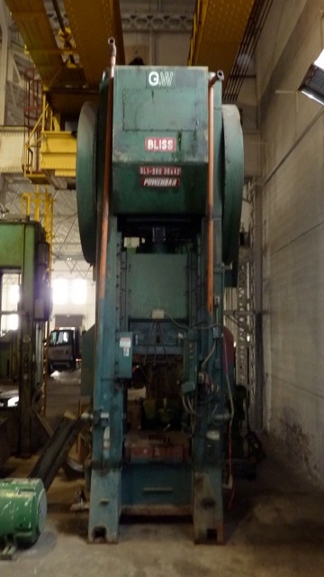300 Ton Bliss Single Point Press For Sale