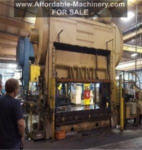 300 Ton Bliss Straight Side Press For Sale