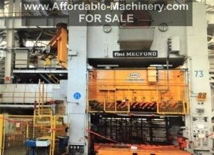 1000 Ton Mecfond-Danly Straight Side Press For Sale
