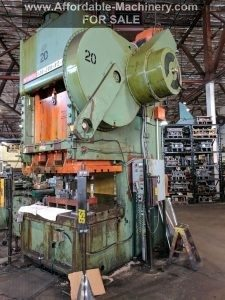 200 Ton Capacity Niagara Gap Frame Press For Sale