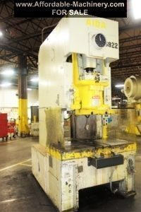 165 Ton Capacity Aida Single-Point Gap Frame Press For Sale